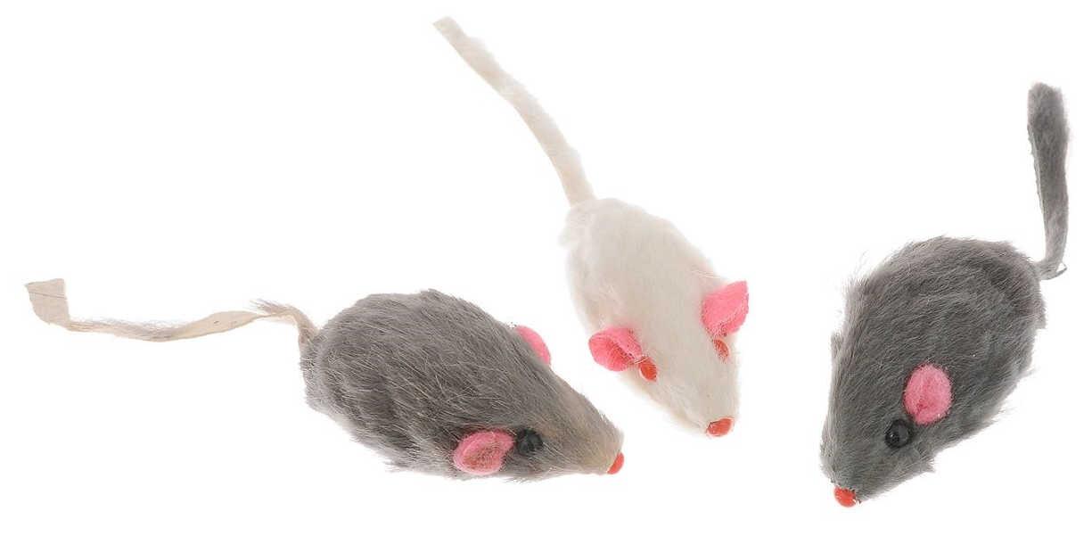 Игрушка для кошек Bernina мышь из натурального меха с погремушкой